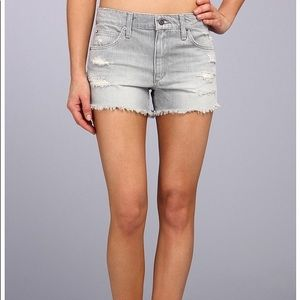 Joe's Jeans Gray High Rise Cut Off Short Anica